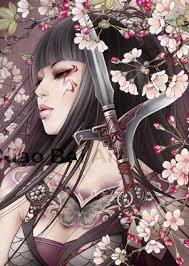 ☆ Detail Art -::- Artist Zhang Xiao Bai ☆ | Geisha art, Samurai art, Art