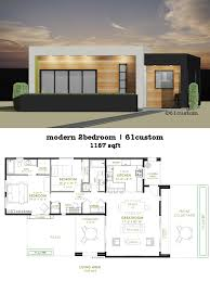 modern 2 bedroom house plan 61custom