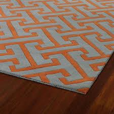 orange and grey area rug
