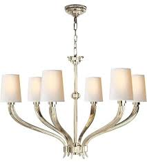 visual comfort e f 6 light inch polished nickel chandelier ceiling classic linear chandeliers visual comfort cg john modern large chandelier