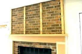 build fireplace mantels build fireplace mantel over brick s how to build a fireplace mantel shelf