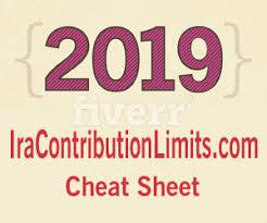 2019 Ira Contribution Limits Chart 2019 Ira Cheat Sheet Contribution Limits For Traditional