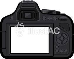 一眼レフカメラ 背面 フレームイラスト No 827539無料イラストなら