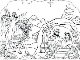 Nativity Coloring Pages Easy For Kids Preschoolers 1076 Get