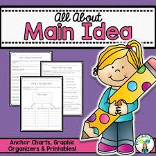 Main Idea And Key Details Anchor Chart Worksheets Teaching
