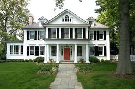 red door grey house. Dark Grey Houses Exterior Paint Ideas Stunning Red Door House H