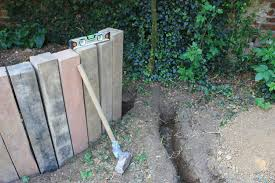 curved retaining wall ideas curved retaining wall from reclaimed oak railway sleepers railway sleepers short