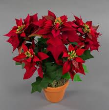 Details Zu Weihnachtsstern Nature 38cm Samt Rot Im Topf Pm Künstliche Blume Kunstblumen