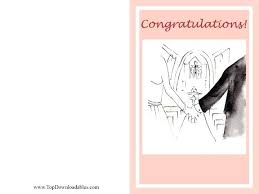 Wedding Greeting Card Template Free Printable Shaped Cards Templates