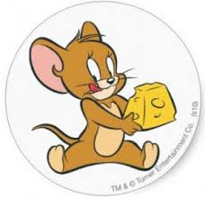 Tom And Jerry Cheese Sticker