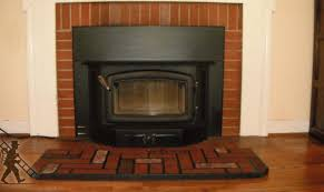 wood stove insert for prefab fireplace home design ideas