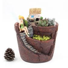 Creative Plants Pot with City of Sky Flowerpot Combination Resin Succulent Plant  Pot Flower Basket Planter