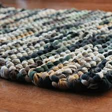 t shirt rag rug rustic camo military brown olive drab army green