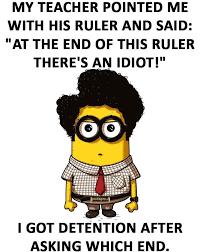 funny minion joke about students vs teacher