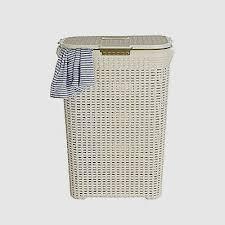 Faux Rattan Laundry Basket