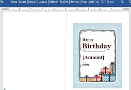 Word Gift Card Template Birthday Gift Certificate Card Template For Word