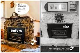 painted stone fireplaces before and after painted stone fireplaces before and after small home decoration