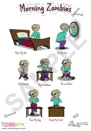 Zombies Diy Morning Routine Chart