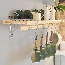 wooden kitchen wall rack 8 laths