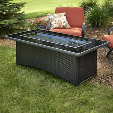outdoor patio table with fire pit. montego gas fire pit coffee table - black outdoor patio with