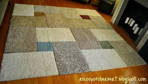 attractive diy area rug from fabric a scoop of sherbert large area rug diy for under 30