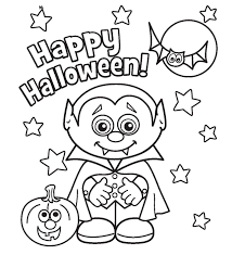 Small Picture Print Little Vampire Printabel Halloween Coloring Pages or