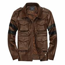 resident evil hot ing three dimensional pockets mens leather jacket slim fit leather coat men size m 3xl
