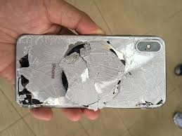 The effect of broken glass. Break The Glass Backing Of Your Iphone X And You Ll Be Replacing The Entire Chassis