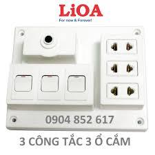 Bảng Điện Nổi LiOA 15A Có 3 Ổ Cắm + 2/3 Công Tắc, Giá tháng 12/2020