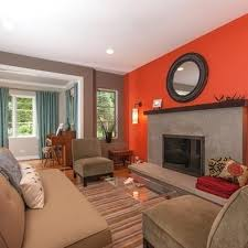 Burnt Orange And Brown Living Room Property New Decorating Ideas