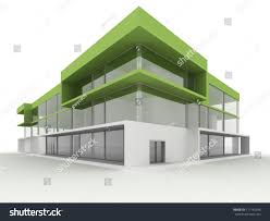 modern office building. Design Of Modern Office Building. Environmentally Friendly, Green Architecture Building