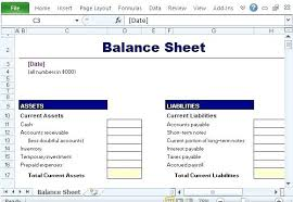 Simple Personal Balance Sheet Example Statement Of Account Template Balance Sheet Excel
