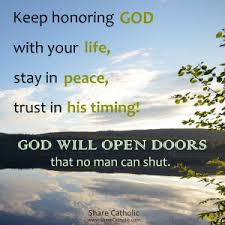 will open doors that no man can shut
