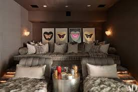 movie room lighting. Gray Hollywood Regency Style Movie Room View Full Size Lighting