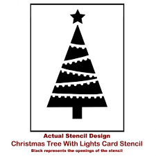 christmas card stencils christmas tree with lights card stencil template holiday card