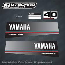 yamaha 40 hp outboard. 1984 yamaha 40 hp precision blend decal set 40heo outboard