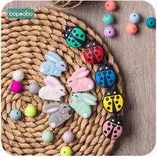 <b>Bopoobo 5pc Silicone Panda</b> Beads Rodent Baby Teething Silicone ...