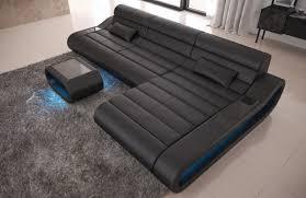 Couch L Form Leder