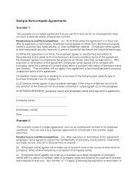 non compete agreement example printable documents sample non compete agreement view original image