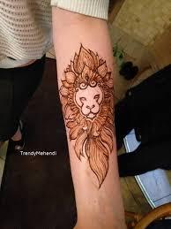 символ тату хной лев Trendymehendi