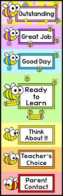 Behavior Chart Bee Theme Classroom Decor Classroom