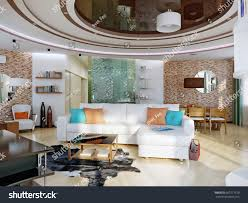urban contemporary furniture. Modern Urban Contemporary Living Room, Dining Room Hotel Interior Design With White Orange Walls, Furniture N