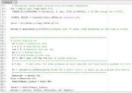 matlab code to fit the exponential decay model and calculate the human health impact for emission