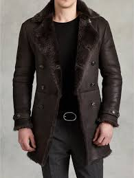 Double Breasted <b>Shearling Coat</b> - <b>John</b> Varvatos | Mens winter fashion