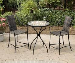 outdoor pub table and chairs 5 piece for set poly