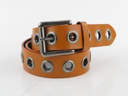 valerie stevens womens burnt orange genuine leather grommet belt large pl5015800