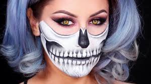 tutorial half skull mask you inspiration 30 makeup ideas for women