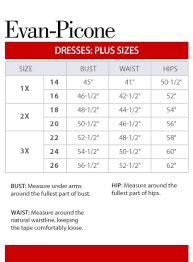 Evan Picone Plus Size Chart Via Macys Com In 2019 Size