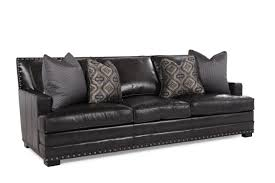 Mathis Brothers Living Room Furniture Bernhardt Cantor Graphite Leather Sofa Mathis Brothers Furniture