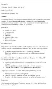 Resume Templates: Information Security Analyst